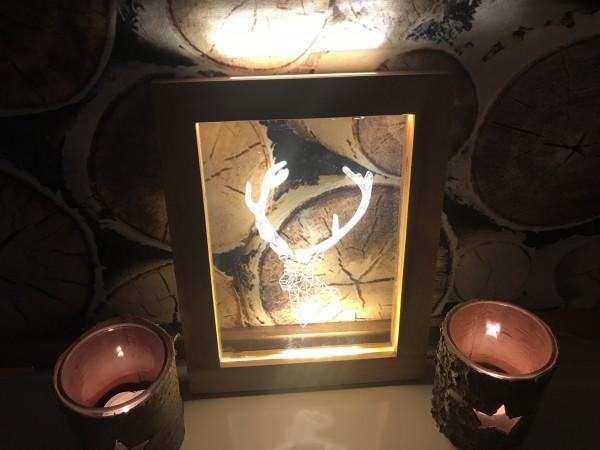 LED Bilderrahmen als Weihnachtsdeko oder Geschenk